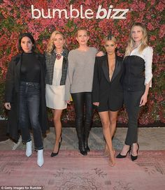 Photo op: The E! star posed alongside her hair stylist Jen Atkin, Whitney Wolfe, Erin Foster and Sara Foster