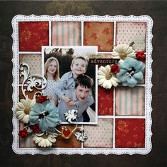 patterned block background...cute!