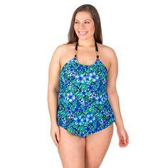 5d1c0e46f71 Cute Plus Sized Ruffle Front One-Piece Ladies Bathing Suit by Penbrooke Size  18w-24w