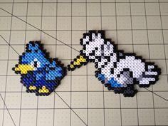 Pokemon Bead Sprite Set Ducklett Family by ToughTurtles on Etsy, $5.50