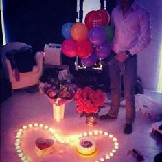 Such a cute, romantic way to surprise your other half ♥ definitely going to do this one day