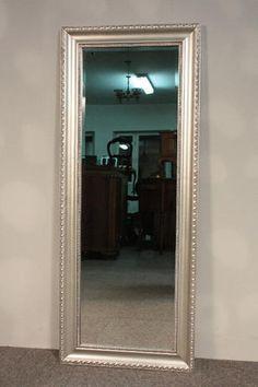 Stylowe Lustro w Srebrnej Ramie - Fazowane 134x 54 | Meble stylowe, meble kolonialne, lustra, rzeźby, wieszaki - importer.