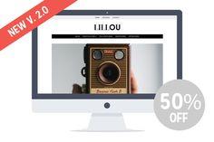 Check out Lillou - Responsive Wordpress Theme by Pankogut on Creative Market
