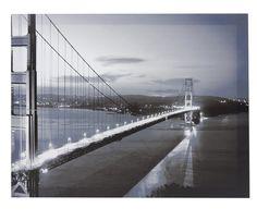 quadro - cidade - preto e branco