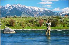 Madison River, Montana - or is it the Gallatin River? Same picture...