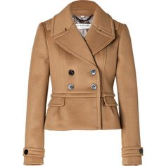BURBERRY LONDON Wool-Cashmere Addlesthorp Jacket in Ochre Brown (€740) ❤ liked on Polyvore featuring outerwear, jackets, coats, coats & jackets and burberry