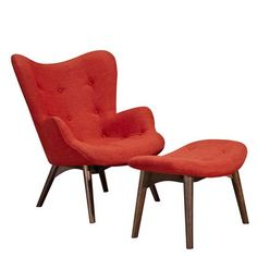 Nye Koncept Furniture 445562-B-150 Lava Red Aiden Chair