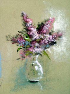 Bouquets de Lilas  By Michel Breton : http://michelbretonpastels.blogspot.com/