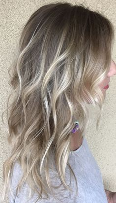 Blonde Hairstyle From Side