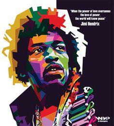 Jimi Hendrix WPAP Design
