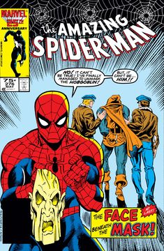 The Hobgoblin believes he has defeated Spider-Man and is about to fire a killing jolt from his finger blaster. However, Spider-Man was playing possum and manages to roll out of danger at the last moment. Spider-Man is in no mood to have a prolonged battle, all he wants to do is take down the...