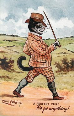 A PERFECT CURE  FIT FOR ANYTHING! (1907) Louis Wain