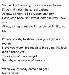 28 best lyrics images on pinterest lyrics music lyrics and song when your ready come and get it lyrics stopboris Image collections