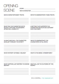 12 Creative Writing Templates for Planning Your Novel