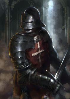 Gothic Knight by Beaver-Skin.deviantart.com on @deviantART