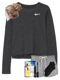 """'blog' ♡ entry one"" by hhaileyyyy ❤ liked on Polyvore featuring NIKE, Casetify and Falke"