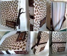 Caderno com costura longstitch e fechamento com fita. #paperrie #encadernacãoartesanal #feitoamão