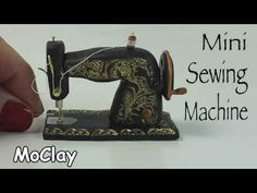 How to make a miniature vintage sewing machine - Dollhouse DIY - YouTube