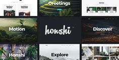 Honshi - Creative Multi Purpose WordPress Theme Honshi, a smooth and sleek theme inspired by a vibe and essentials of nature.  If you are looking for a simple, fresh, and clean multipurpose WordPress theme , then Honshi will definitely suit all your needs. Create any page with Visual Composer WordPress page builder and change everything easily