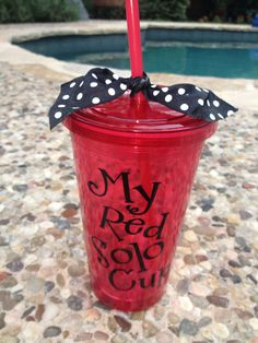 My Red Solo Cup, tumbler Vinyl Tumblers, Custom Tumblers, Monogram Tumblers, Monogram Cups, Vinyl Crafts, Vinyl Projects, Red Solo Cup, Cricut Help, Silhouette Cameo Projects