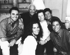 #Atribute to History: Giorgio Armani flanked by his mother, Maria, and sister, Rosanna (rear, center and right), and (from left) nephew Andrea Camerana and nieces Roberta and Silvana Armani, in the mid-'90s. Photo by Paul Wetherell. Discover more on Armani.com/Atribute