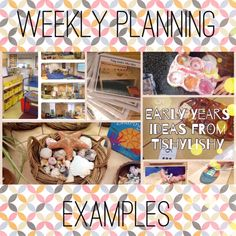 Examples of weekly planning in my FS2 class