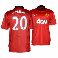 Robin Van Persie Manchester United Autographed Green Back Jersey Manchester  United Gear 45d45b10fb5