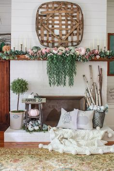 Farmhouse Living Room Decor Ideas - Farmhouse style has certain attributes, yet it's not one dimension fits all. Have a look at these differed instances of farmhouse style living spaces. Farmhouse Side Table, Farmhouse Decor, Farmhouse Style, Modern Farmhouse, Farmhouse Fireplace, Fall Home Decor, Diy Home Decor, Living Room Designs, Living Room Decor