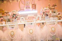 You have to see this pink and gold princess birthday party! See more party ideas at CatchMyParty.com!