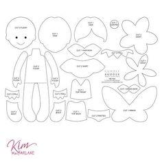Kim's Digital Felt Pattern - Felt Fairy < Craft Shop | Cuddly Buddly Crafts