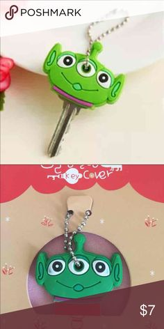 Alien key cover/cap/case Alien from toy story's key cover/cap/case. One included only. Put the cap over your keys to help distinguish the different keys you have. Accessories Key & Card Holders