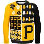 Pittsburgh Pirates Black Busy Block Ugly Sweater