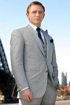 daniel craig suit - Google Search  This is what I want for my Gregory, but in navy blue