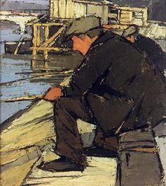 Pêcheurs à la ligne 1926 - 1929 - Paris - Frédéric FIEBIG