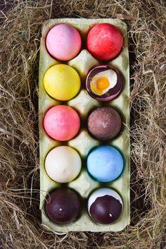 Täytetyt suklaamunat / Filled chocolate eggs