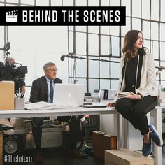 Check it out! #BTS of #TheIntern with Robert De Niro and Anne Hathaway. #TBT