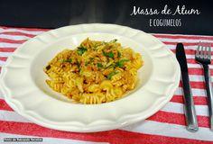 Pasta with tuna and mushrooms