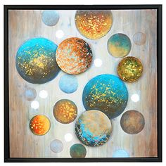 Tiny Bubbles Framed Painting Print
