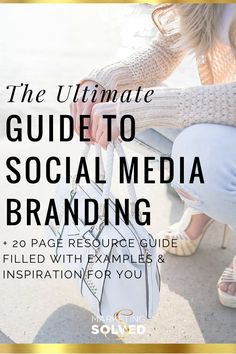 The Ultimate Guide to Social Media Branding - Printable Resource guide has tons of examples and details about how to create your own social media brand. branding tips Social Media Branding, Personal Branding, Social Media Plattformen, Social Media Marketing, Content Marketing, Business Marketing, Business Branding, Social Media Management, Personal Logo
