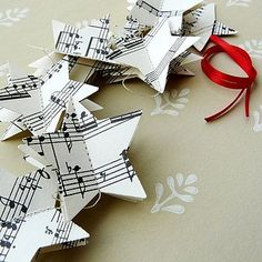 Sewn paper stars