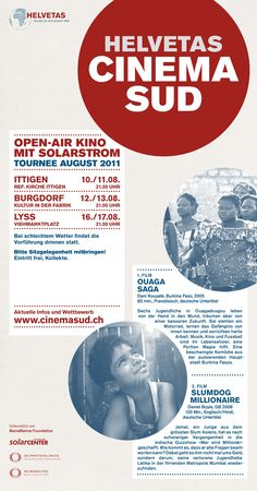 Cinema Sud – Sonnenkino - Gestaltung –Grafik –Herr Bürli