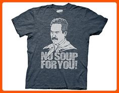 Ripple Junction Seinfeld No Soup For You Adult T-Shirt Small Navy Heather - Cool and funny shirts (*Amazon Partner-Link)