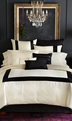 Dormitorio blanco y negro:                                                                                                                                                                                 Más