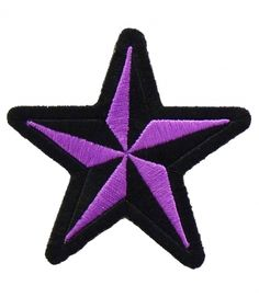 Nautical Star Purple & Black Patch | Star Patches