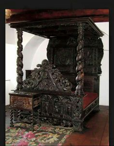 Beautiful Bed From Bran Castle The Home Of Dracula Vlad Impaler
