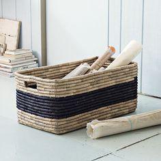 Patterned Basket - Oversized | west elm