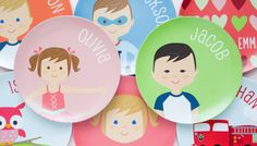Personalized Plates for Kids made great birthday or Christmas gifts for toddlers, preschoolers, kindergartners or older kids.