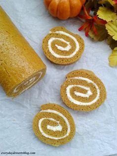 Everyday Desserts: Pumpkin Cake Roll