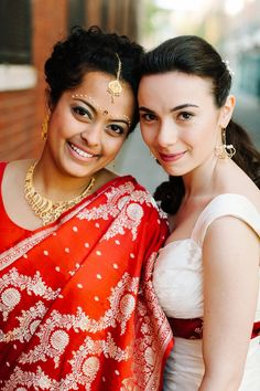 Love is Love / Marriages that cross boundaries / Jewish-Hindu-Indian-Russian multicultural lesbian wedding / Trust, Philadelphia, Pennsylvania, USA / Photography by M2 Photography / http://www.smashingtheglass.com/2016/06/26/love-love-marriages-cross-boundaries/