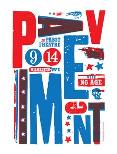 Pavement Pabst promo poster Milwaukee, WI